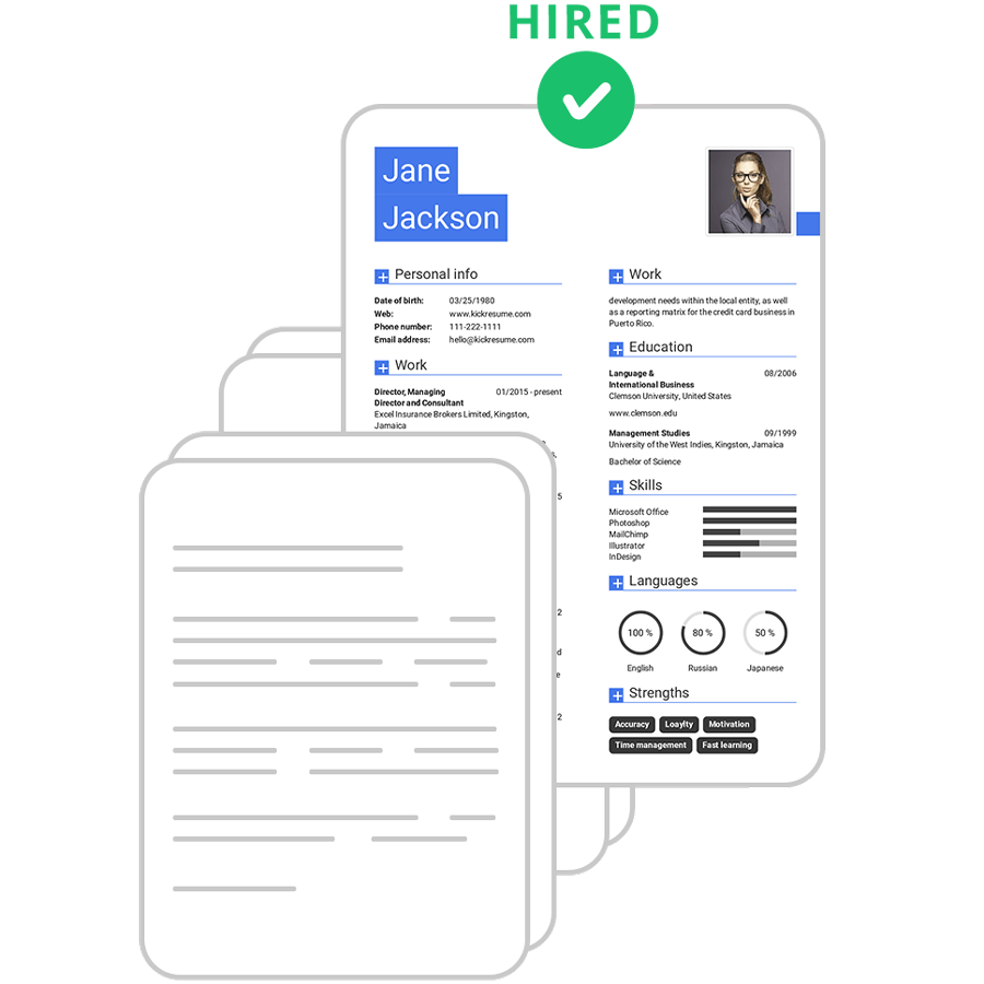 Kickresume | Perfect resume and cover letter are just a ...