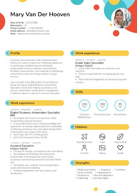 Resume created by Kickresume